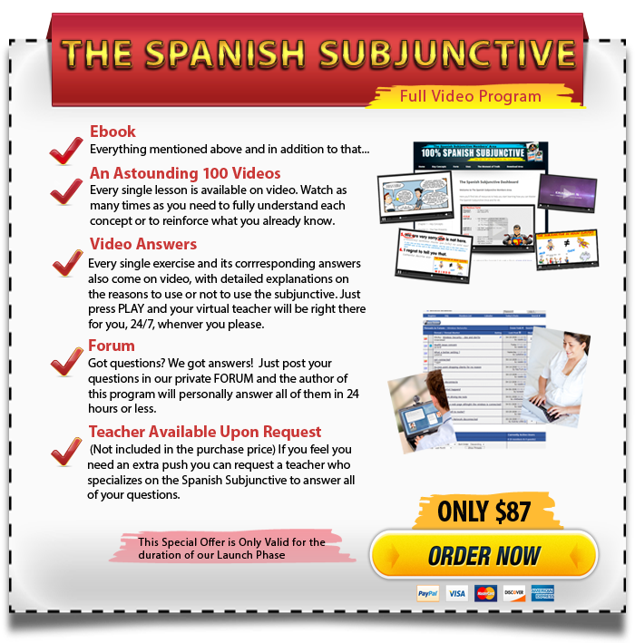 The Spanish Subjunctive Full